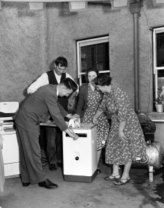 Rural demonstration in Lislin, Co Cavan August 1957