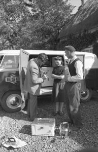 A salesman at work Mullingar May 1954
