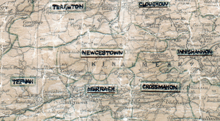 Newcestown-Map-cork
