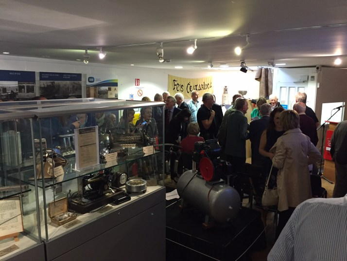 crowd at the official opening of the exhibition on Tuesday 23rd August 2016