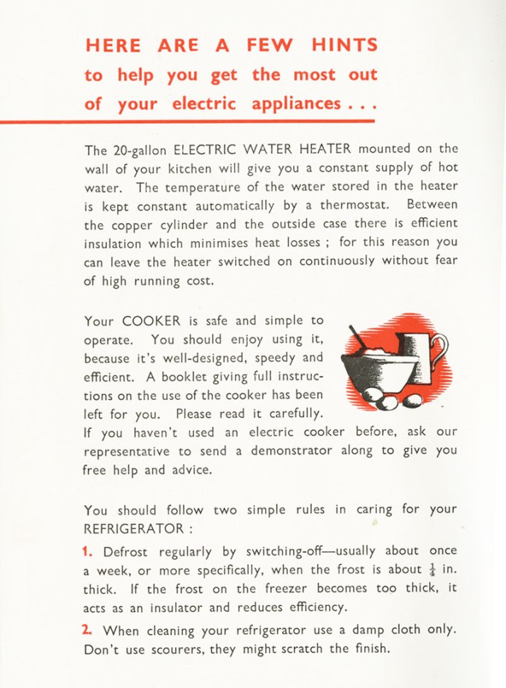 Brochure for all-electric flats at Shannon new town 1961
