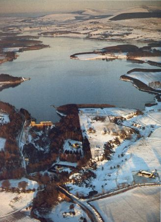 Pollaphuca in the winter snow, 1986