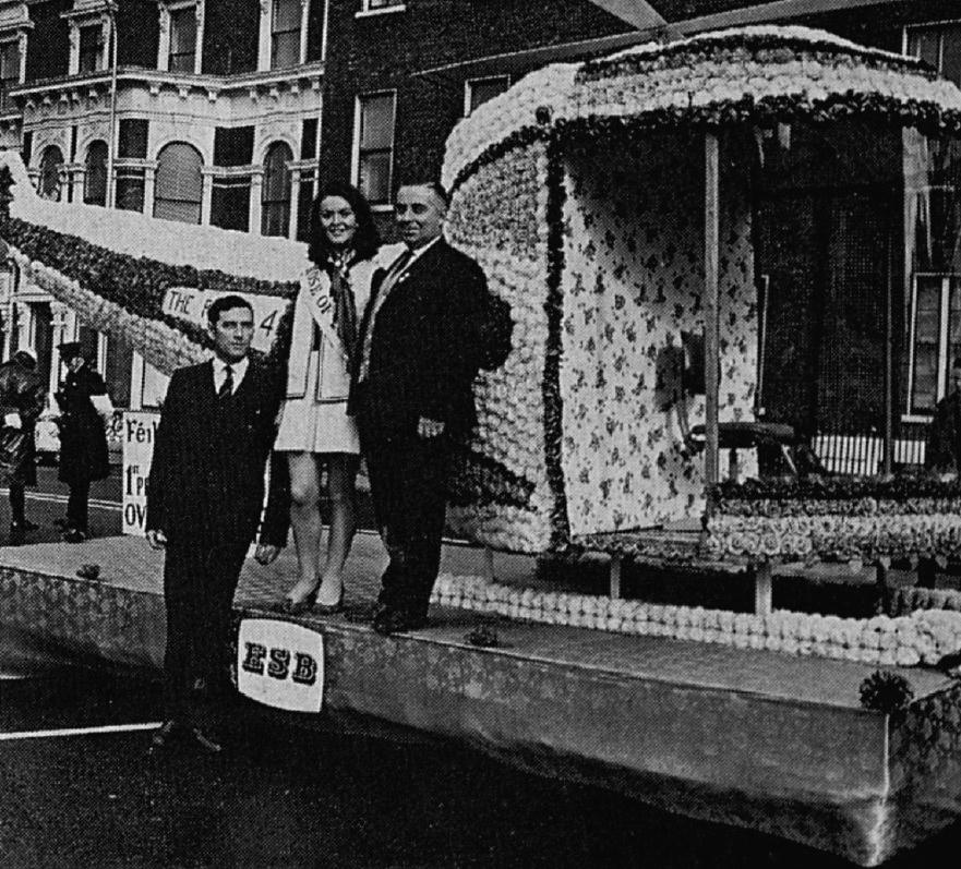 1970, ESB Rose of Tralee float, Shelbourne Hotel, Dublin