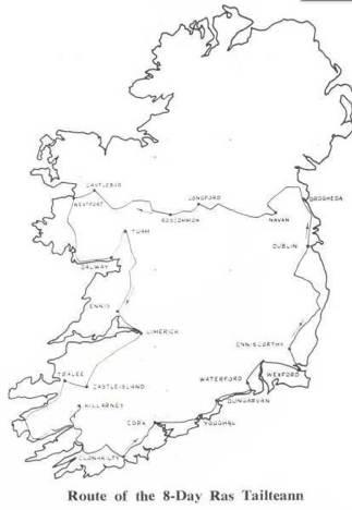 Ras Tailteann 1961 Route