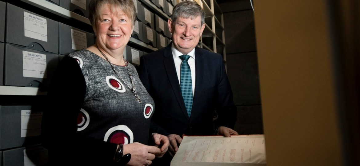 Official opening of ESB all-electric archive building
