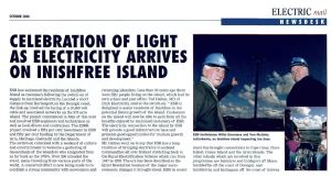 Celebration of Light as Electricity Arrives on Inishfree Island (Electric Mail, October 2000)