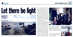 'Let There Be Light', Inis Treabhair Island (Electric Mail, September 2001)