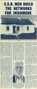 'ESB Men Build the Networks for Inishmore' (article Electric Mail, June 1975)