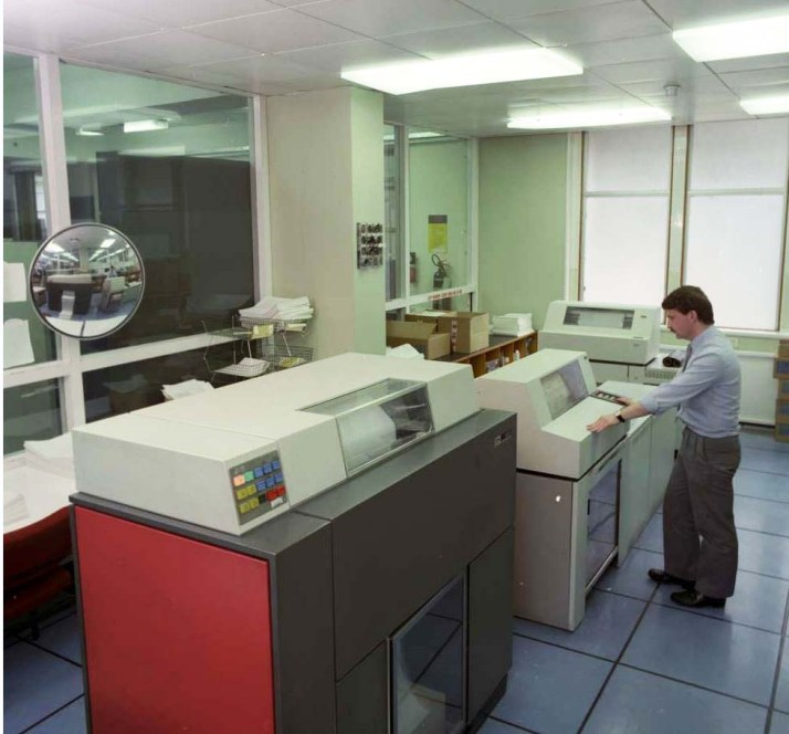 ESB Head Office Computers 1987