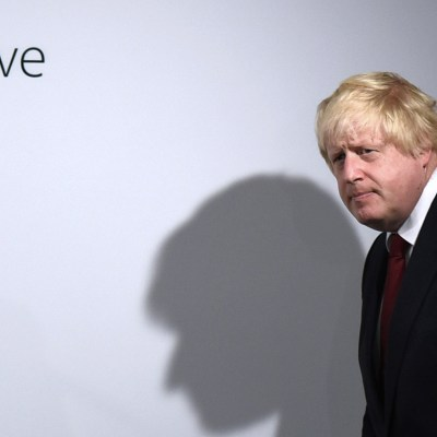 Vote Leave campaigner Boris Johnson arrives for  a press conference at Vote Leave headquarters  in London Friday June 24, 2016.  Britain's Prime Minister David Cameron announced Friday  that he will quit as Prime Minister following a defeat in the referendum which ended with a vote for Britain to leave the European Union. (Mary Turner/Pool via AP)