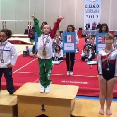 Bibi Wetzel: Niña mexicana gana 5 medallas en Juegos Trisómicos