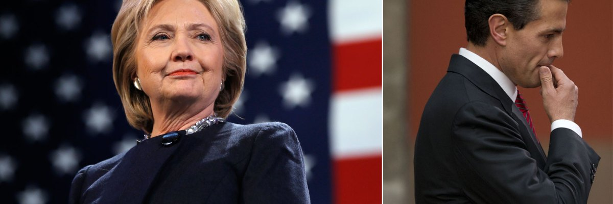 #SáqueseAVolar: Clinton rechaza invitación de Peña Nieto