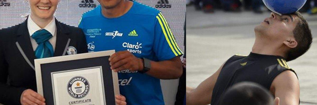 """#SoccerMan: De inmigrante indocumentado, al récord Guinness de """"dominadas"""""""