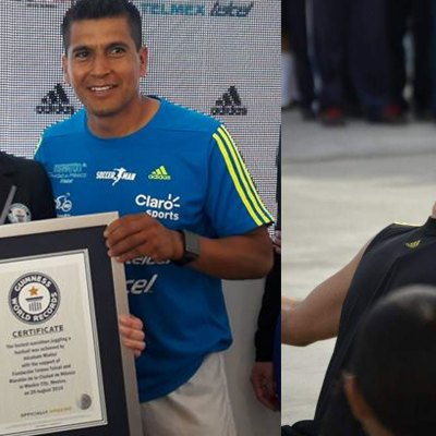 "#SoccerMan: De inmigrante indocumentado, al récord Guinness de ""dominadas"""