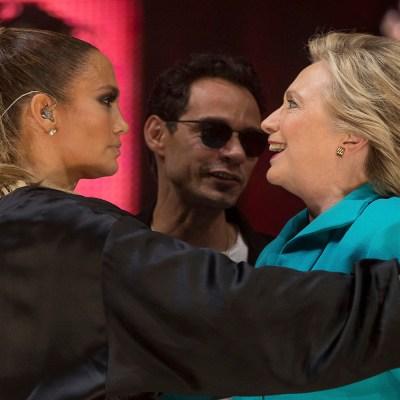 Jennifer López y Marc Anthony cantaron 'loud' en apoyo a Hillary
