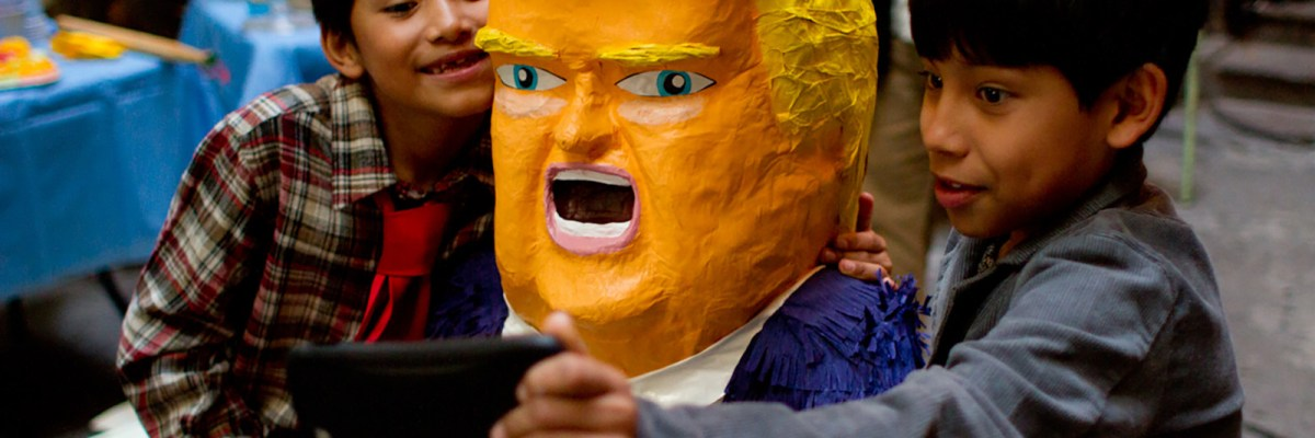 #DaleDaleDale: Un niño se empeña en romperle la cara a Donald Trump