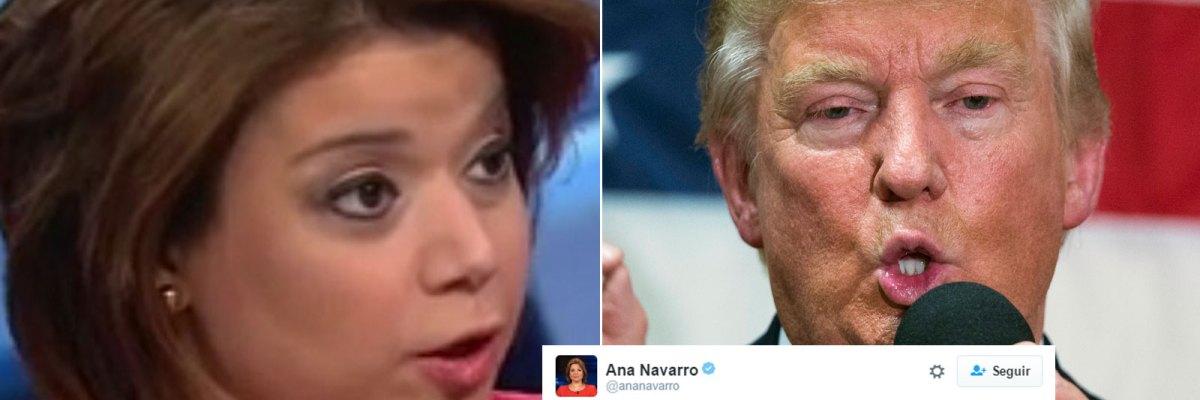 """#AnaNavarro: """"No me digas que te ofende cuando yo lo digo, y no cuando lo dice Trump"""""""