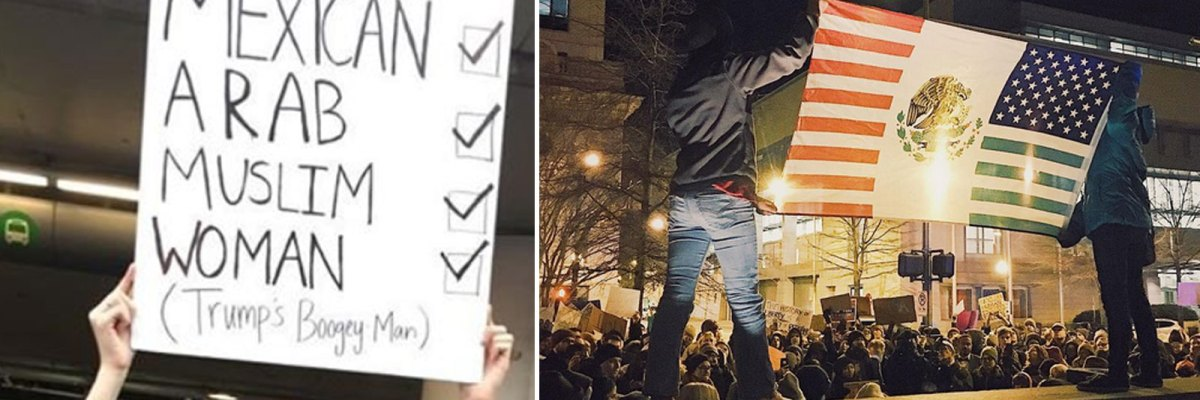 #Tómala: 10 poderosas imágenes de protesta harán llorar a Trump