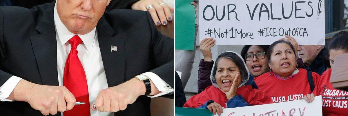 #NoLeSaque: El 'bully' Trump se topó con un rival de su tamaño llamado California