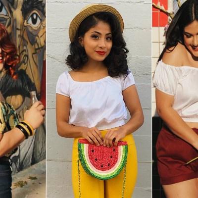 Mujeres latinas orgullosas de su ropa.