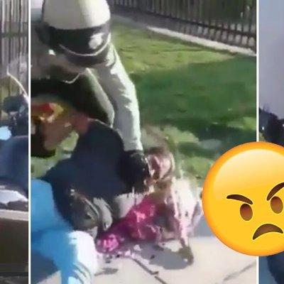 #Basta: Brutal arresto de una señora por vender flores desata protestas