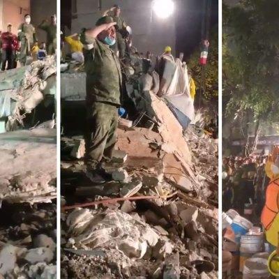 #Indestructibles: El himno mexicano interpretado por rescatistas entre las ruinas es conmovedor