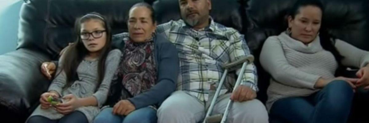 Inmigrante mexicano se reunió con su mamá en Navidad