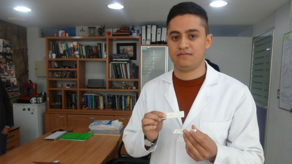 Tira reactiva para detectar tuberculosis