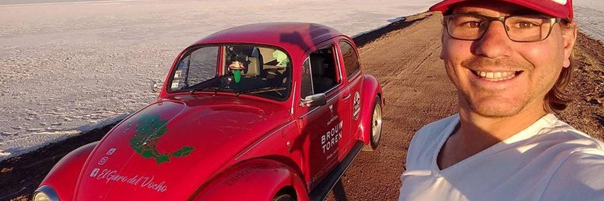 #Compa: El holandés que recorre México en vocho para mostrarle al mundo su belleza