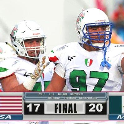 #Touchdown: México venció a EE. UU. en el Mundial de fútbol americano