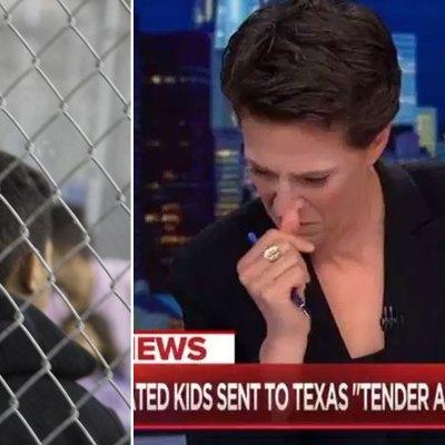 #RachelMaddow: Periodista rompe en llanto al hablar de los niños inmigrantes detenidos