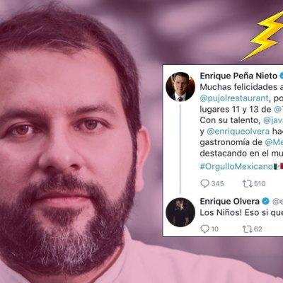 #PUM: Peña Nieto felicita a Enrique Olvera por triunfo internacional y él le da dura lección