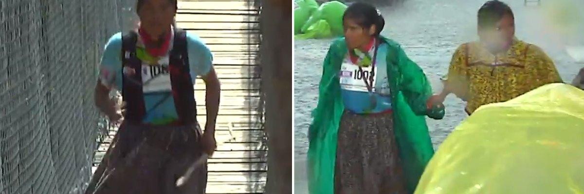 #Imparable: Ni un diluvio pudo con la corredora rarámuri Lorena Ramírez