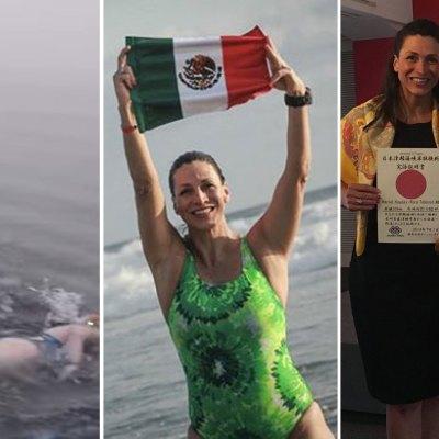#Histórico: Mexicanas imponen récord al cruzar nadando el estrecho de Tsugaru
