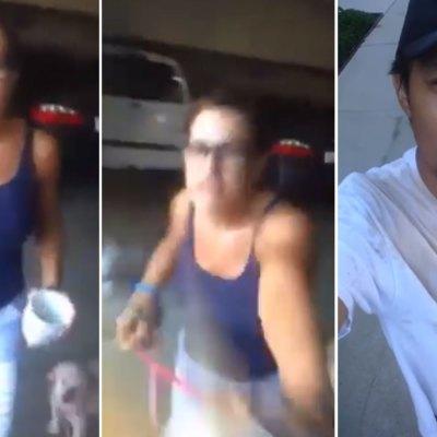 #Horrenda: Mujer racista arroja café caliente en la cara a trabajador mexicano