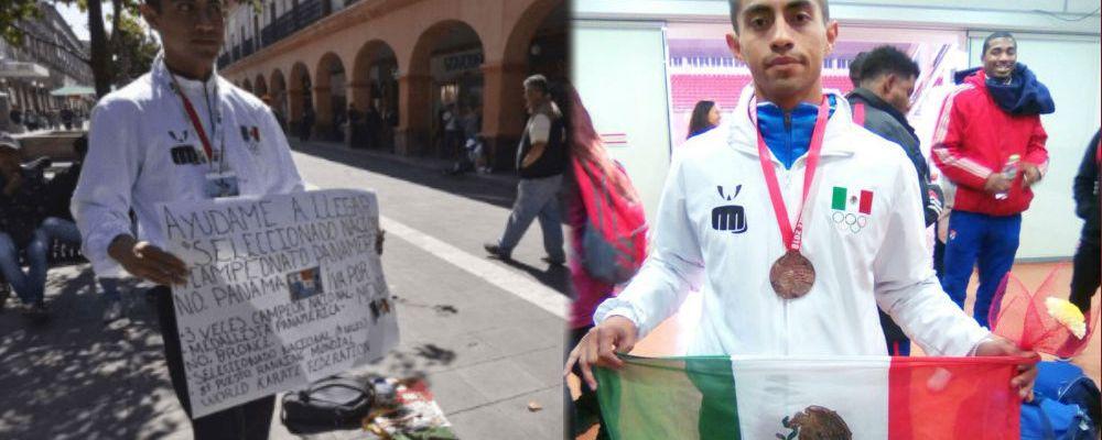 Deportista mexicano tiene que pedir dinero para representar a su país