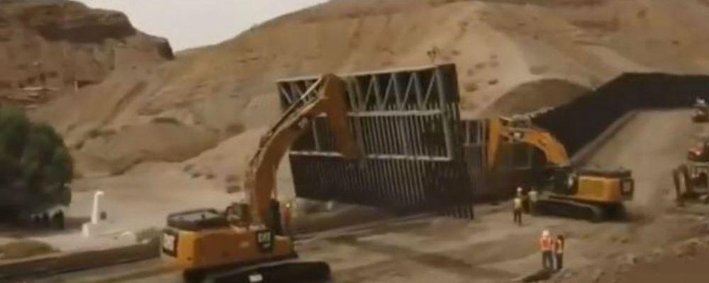 En Estados Unidos ya empezaron con la construcción del muro (VIDEO)