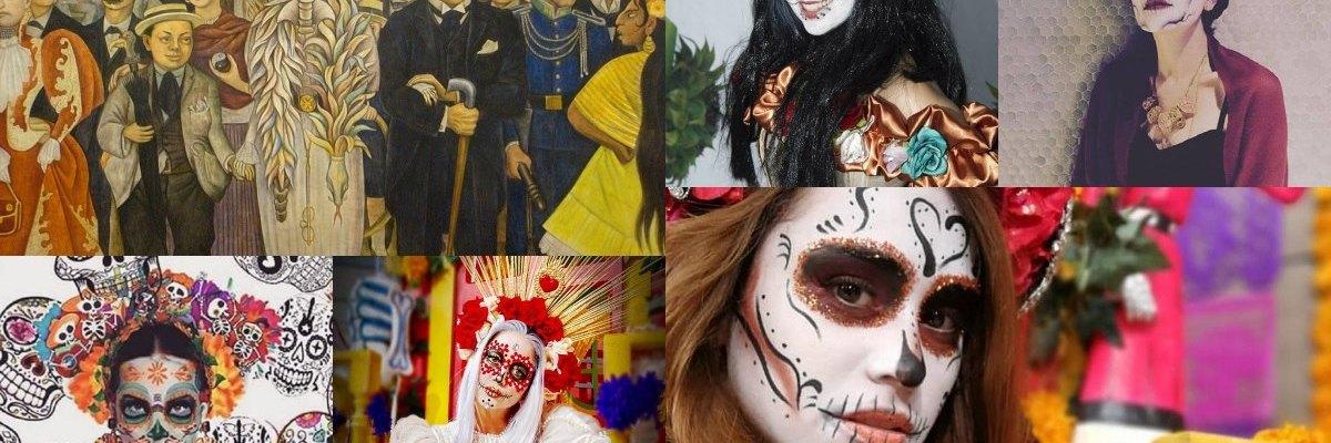 Los famosos que se visten de catrina para honrar el día de muertos