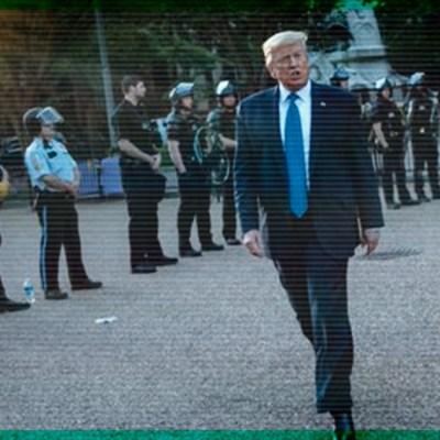 """#Increíble: Revelan la razón por la que Trump """"huyó"""" al búnker de seguridad"""