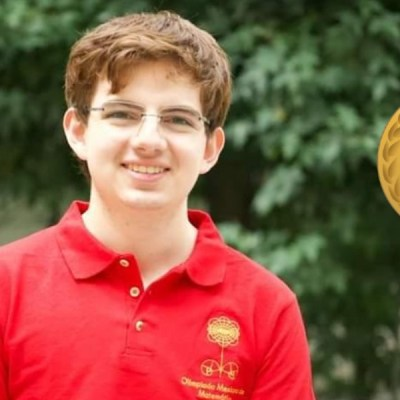 #OrgulloNacional Tomás Cantú Rodríguez ganó medalla de oro para México en matemáticas.