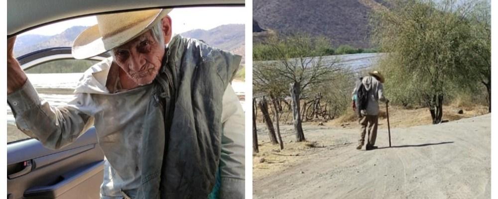 Abuelito de 92 años busca a sus hijos migrantes que se fueron a EU