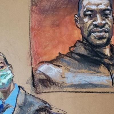 Familia de George Floyd se arrodilla ante tribunal que juzga a expolicía