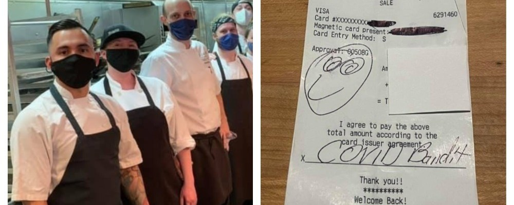 Hombre deja 140 mil pesos de propina a empleados de un restaurante