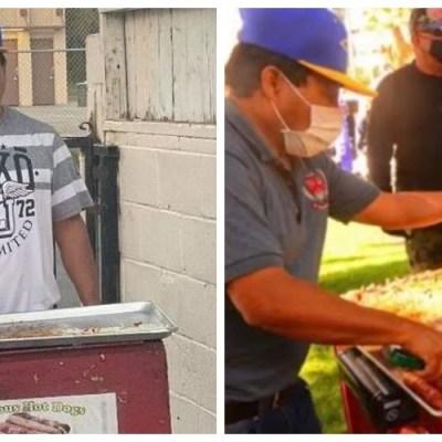 Mexicano que vendió hot dogs en protestas de Trump recibe la ciudadanía americana