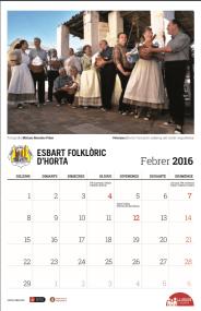 Calendari 2016 - Febrer - Esbart Folklòric d'Horta