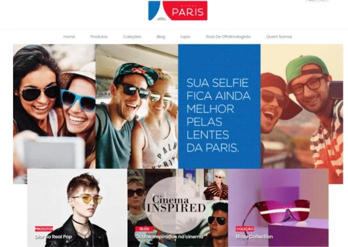 Novo site das Óticas Paris