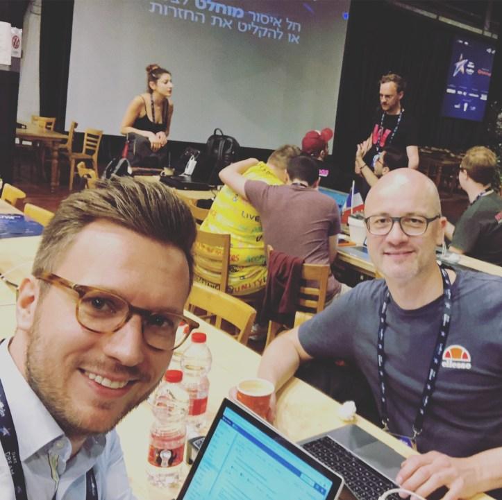 Blogger Douze Points Benny Tel Aviv Pressezentrum