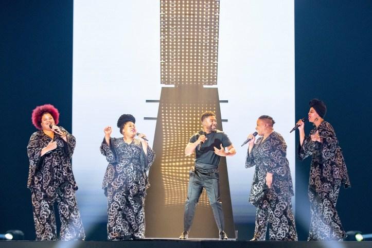 John Lundvik first rehearsal Eurovision 2019 Sweden
