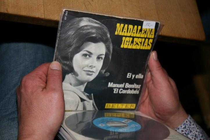 OGAE Clubtreffen 2018 MUC Madalena Iglesias Raritaet auf der Plattenboerse