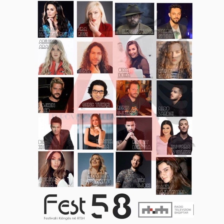 Albanien 58 Festivali i Këngës 2019 ESC 2020 Vorentscheidung
